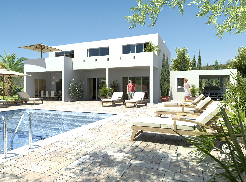 albatros villa contemporaine de 116 m avec garage abri voiture et grande terrasse maisons. Black Bedroom Furniture Sets. Home Design Ideas